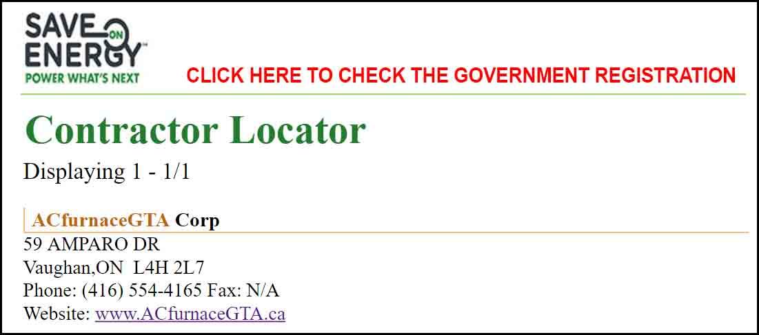 Government Rebate Registration